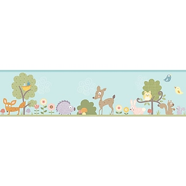 RoomMates® Woodland Animals Peel and Stick Border, Multi-color, 180in. L x 5in. H