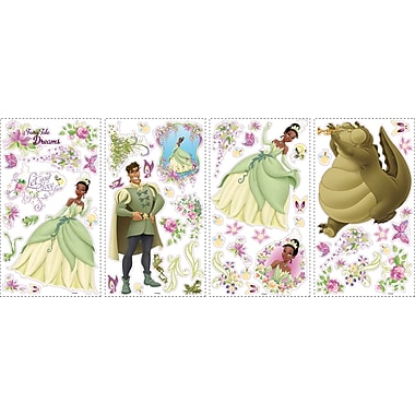 RoomMates® The Princess and The Frog Peel and Stick Wall Decal with 3D Butterflies, 10in. x 18in.