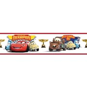"RoomMates® Cars Piston Cup Champions Peel and Stick Border, Multi-color, 180"" L x 5"" H"
