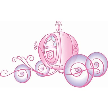 RoomMates® Disney Princess Carriage Peel and Stick Giant Wall Decal with Glitter, 27in. x 40in.