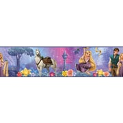 "RoomMates® Tangled Peel and Stick Border, Blue, 180"" L x 5"" H"