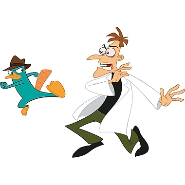 RoomMates® Agent P and Dr. Doofenshmirtz Peel and Stick Giant Wall Decal, 18in. x 40in., 9in. x 40in.