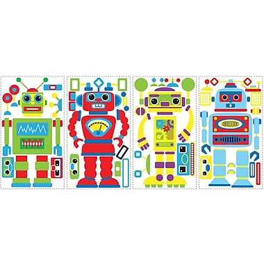 RoomMates® Build Your Own Robot Peel and Stick Wall Decal, 10in. x 18in.