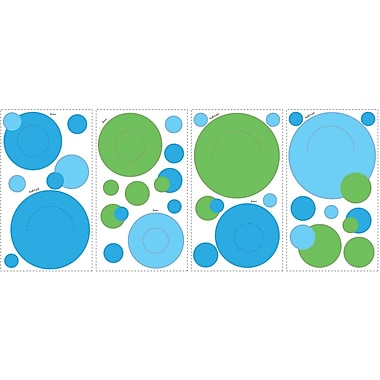 RoomMates® Blue and Green Peel and Stick Wall Pocket Decal, 10in. x 18in.
