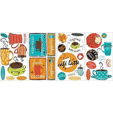 RoomMates® Cafe Peel and Stick Wall Decal, 10in. x 18in.