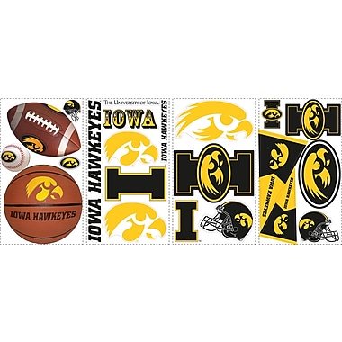 RoomMates® University of Iowa® Peel and Stick Wall Decal, 10