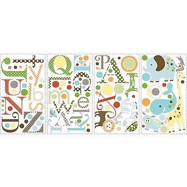 RoomMates® Animal Alphabet Peel and Stick Wall Decal, 10in. x 18in.