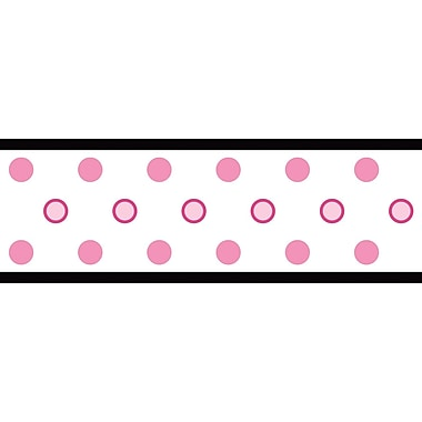 RoomMates® Polka Dot Peel and Stick Border, White, 180in. L x 5in. H