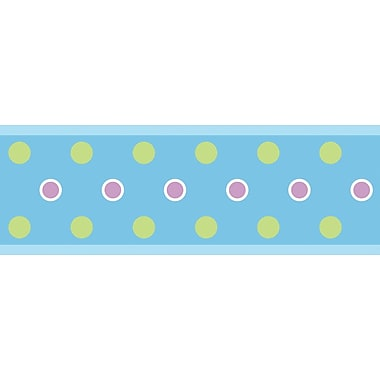 RoomMates® Polka Dot Peel and Stick Border, Blue, 180in. L x 5in. H