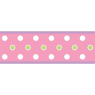RoomMates® Polka Dot Peel and Stick Border, Pink, 180in. L x 5in. H