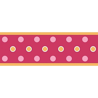 RoomMates® Polka Dot Peel and Stick Border, Red, 180in. L x 5in. H