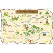 "RoomMates® Pooh and Friends 100 Aker Wood Maps Peel and Stick Wall Decal, 27"" x 40"""
