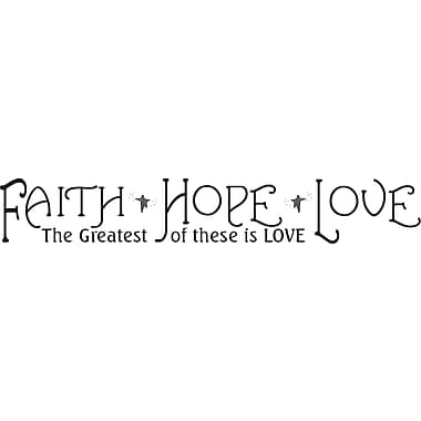 RoomMates® Faith, Hope, and Love Quote Peel and Stick Wall Decal, 9 3/4