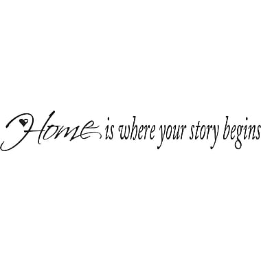 RoomMates® Home Is Where Your Story Begins Quote Peel and Stick Wall Decal, 9 3/4in. x 13in.