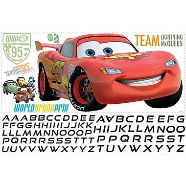 RoomMates® Lightening McQueen Peel and Stick Giant Wall Decal with Alphabet, 18