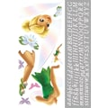 RoomMates® Tinker Bell Peel and Stick Giant Wall Decal with Alphabet, 18in. x 40in., 9in. x 40in.