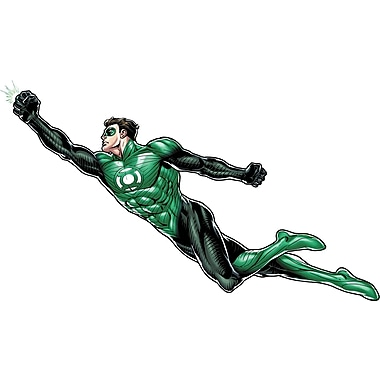 RoomMates® Green Lantern Peel and Stick Giant Wall Decal, 18in. x 40in., 9in. x 40in.