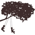 RoomMates® Kids on Swings Brown Peel and Stick Giant Wall Decal, 18in. x 40in., 9in. x 40in.