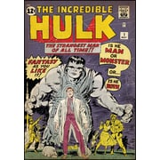 RoomMates® Incredible Hulk Issue #1 Comic Cover Peel and Stick Giant Wall Decal, 27 x 40