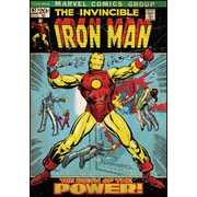 RoomMates® Iron Man Comic Cover Peel and Stick Giant Wall Decal, 27 x 40
