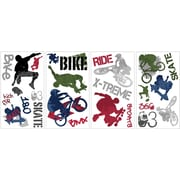 """RoomMates® Extreme Sports Peel and Stick Wall Decal, 10"""" x 18"""""""