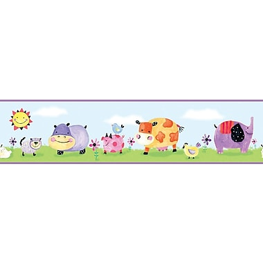 RoomMates® Polka Dot Piggy Peel and Stick Border, Multi-color, 5in. H x 180in.