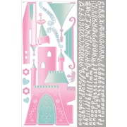 "RoomMates® Disney Princess Castle Peel and Stick Giant Wall Decal with Alphabet, 18"" x 40"",9"" x 40"""