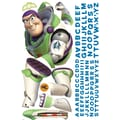 RoomMates® Buzz Lightyear Peel and Stick Giant Wall Decal with Alphabet, 18in. x 40in., 9in. x 40in.
