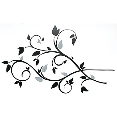 RoomMates® Scroll Branch Foil Leaves Peel and Stick Wall Decal, 10in. x 18in., 4 1/2in. x 10in.