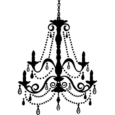 RoomMates® Chandelier Peel and Stick Giant Wall Decal with Gems, 18in. x 40in.