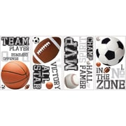 """RoomMates® All Star Sports Saying Peel and Stick Wall Decal, 10"""" x 18"""""""