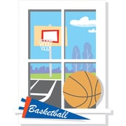 RoomMates® Backyard Basketball Window Peel and Stick Giant Wall Decal, 27 x 40