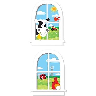 RoomMates® Down on the Farm Windows Peel and Stick Giant Wall Decal, 27in. x 40in.
