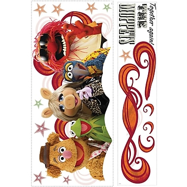 RoomMates® The Muppets Collage Peel and Stick Giant Wall Decal, 18in. x 40in., 9in. x 40in.