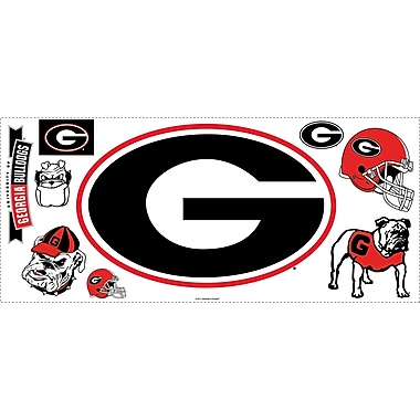 RoomMates® University of Georgia® Giant Wall Decal with Hooks, 18in. x 40in.