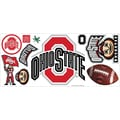 RoomMates® Ohio State University™ Peel and Stick Giant Wall Decal with Hooks, 18in. x 40in.