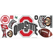 "RoomMates® Ohio State University™ Peel and Stick Giant Wall Decal with Hooks, 18"" x 40"""