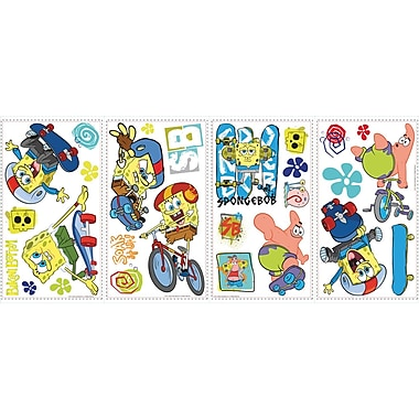RoomMates® Spongebob Squarepants Skaters Peel and Stick Wall Decal, 10in. x 18in.
