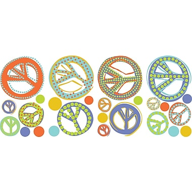RoomMates® Mod Peace Signs Peel and Stick Wall Decal, 10in. x 18in.