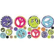 RoomMates® Zebra Print Peace Signs Peel and Stick Wall Decal, 10 x 18