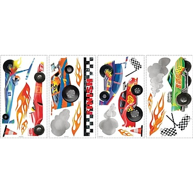RoomMates® Anthony Morrow Racing Cars Peel and Stick Wall Decal, 10in. x 18in.