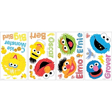 RoomMates® Sesame Street Scribble Peel and Stick Wall Decal, 10in. x 18in.