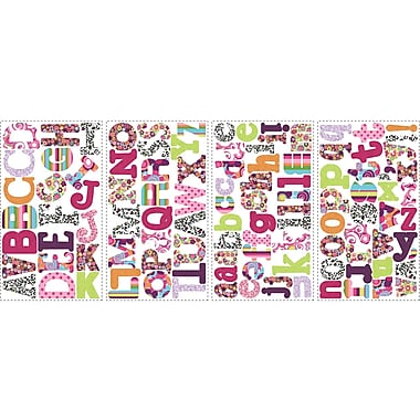 RoomMates® Patterned Alphabet Peel and Stick Wall Decal, 10in. x 18in.