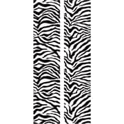 "RoomMates® Black and White Zebra Locker Peel and Stick Wall Decal, 8 3/5"" x 40"""