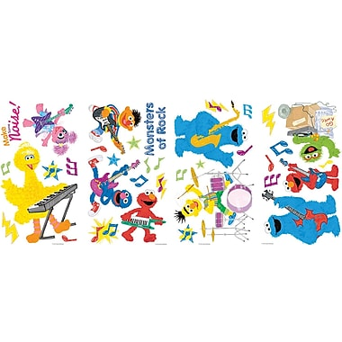 RoomMates® Sesame Street Rock and Roll Peel and Stick Wall Decal, 10in. x 18in.