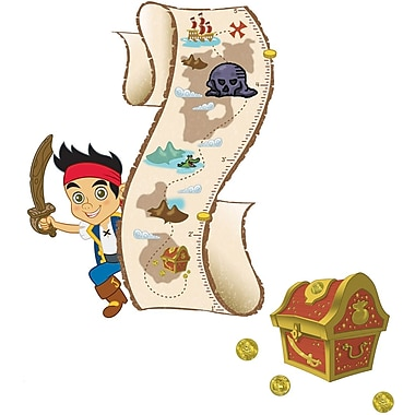 RoomMates® Jake and the Neverland Pirates Peel and Stick Growth Chart, 27in. x 40in.