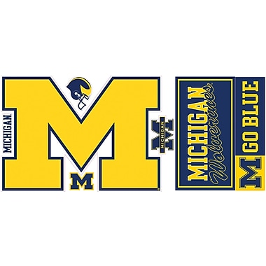 RoomMates® University of Michigan® Peel and Stick Giant Wall Decal, 18