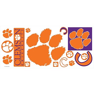 RoomMates® Clemson University® Peel and Stick Giant Wall Decal, 18in. x 40in.