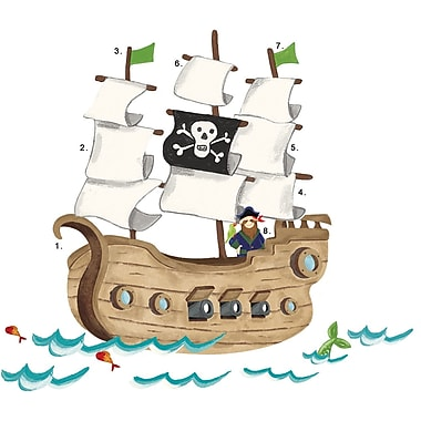 RoomMates® Pirate Ship Peel and Stick Giant Wall Decal, 27in. x 40in., 18in. x 40in.