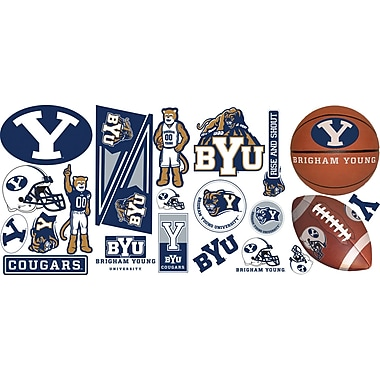 RoomMates® Brigham Young University® Peel and Stick Wall Decal, 10in. x 18in.